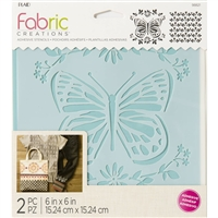 STENCIL ADHESIVE - BUTTERFLY 6X6 INCH 98821