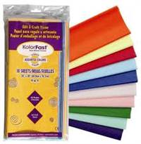 TISSUE PAPER ASSR COLOR PACK 10CT 58950