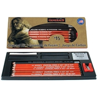 CHARCOAL KIT GENERAL PENCIL 13PC SET No. 15 GP15