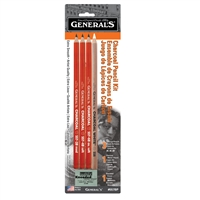 CHARCOAL PENCIL KIT 4PNCL-1ERASR GP557-BP