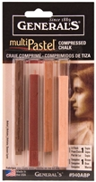COMPRESSED PASTEL CHALK SET EARTH 4/STX GP940ABP