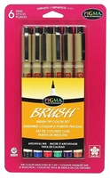 PIGMA MICRON PEN SET - 6PC BRUSH PENS SK38061