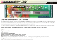 PASTELS OIL EXPRESSIONIST 2PC WHITE SK59902-DISC