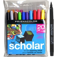 MARKER SET PRISMACOLOR SCHOLAR BRUSH TIP SET 20 1774270