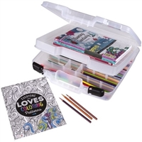ARTBIN QUICKVIEW 15IN DIVIDED BOX W/TRAY AB6962AB
