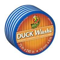 TAPE DUCK WASHI BLUE STRIPE .75X240IN DK282682