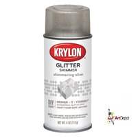 SPRAY GLITTER SILVER 4OZ  KR402