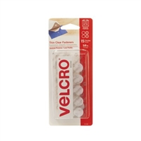 VELCRO COIN SHAPED CLEAR 5/8IN PACK OF 15 VC91328