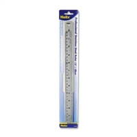 RULER HELIX METAL SAFETY RULER 12 IN HX32046
