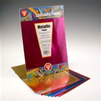 METALLIC PAPER 8.5X11 AST 16 SHEET PACK HY813