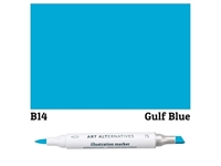ILLUSTRATION MARKER AA GULF BLUE B14 AAM-B14