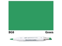 ILLUSTRATION MARKER AA GREEN BG8 AAM-BG8