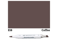 ILLUSTRATION MARKER AA COFFEE E18 AAM-E18