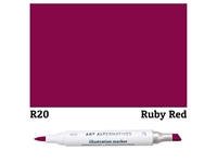 ILLUSTRATION MARKER AA RUBY RED R20 AAM-R20