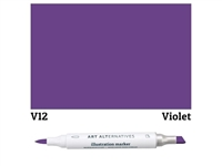 ILLUSTRATION MARKER AA VIOLET V12 AAM-V12