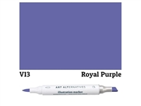 ILLUSTRATION MARKER AA ROYAL PURPLE V13 AAM-V13
