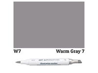 ILLUSTRATION MARKER AA WARM GRAY 7 W7 AAM-W7