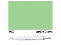 ILLUSTRATION MARKER AA APPLE GREEN YG2 AAM-YG2