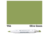 ILLUSTRATION MARKER AA OLIVE GREEN YG6 AAM-YG6