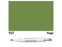 ILLUSTRATION MARKER AA SAGE  YG7 AAM-YG7