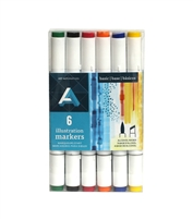 ILLUSTRATION MARKER SET AA PRIMARY 6PC AAM-SETPRM