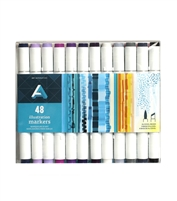 ILLUSTRATION MARKER SET AA 48PC AAM-SET48PC
