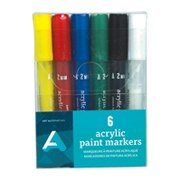 ACRYLIC PAINT MARKER SET 2MM 6PK AA10704