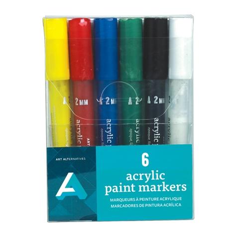 Acrylic Paint Marker Set 2mm 6pk Aa10704