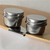 STAINLESS STEEL TWIN  PALETTE CUPS WITH LIDS AA15617