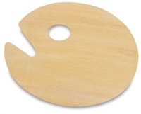 PALETTE WOOD OVAL 15.75 X 19.5 INCHES AA15704