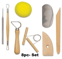 POTTERY TOOL KIT 8 PC AA16201