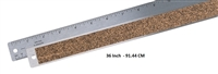 RULER METAL STEEL FLEX CORK 36 INCHES AA27076