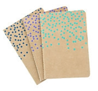 DRAWING JOURNAL LTD - KRAFT DOT PAD 3-PACK - 4X5.75  80SH EACH AAJL00002