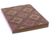DRAWING JOURNAL LTD - DECO DIAMOND VIOLET - GRAPH KRAFT PAPER 192SH 6X8 AAJL00006