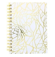 DRAWING JOURNAL LTD - GOLD WEB - 192SH 6X8 WHITE AAJL0056