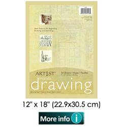 DRAWING PAPER MANILA 12X18 50SH PACK 103194