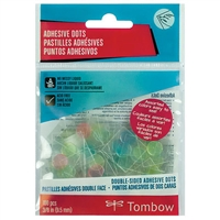 ADHESIVE DOTS TOMBOW ASSORTED COLORS TB52139