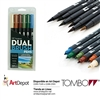 MARKER TOMBOW DUAL BRUSH SET 6/LANDSCAPE TB56164