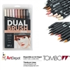 MARKER TOMBOW DUAL BRUSH SET 10/PORTRAIT TB56170