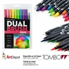 MARKER TOMBOW DUAL BRUSH SET 10/BRIGHT TB56185
