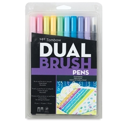 MARKER TOMBOW DUAL BRUSH SET 10/PASTEL TB56187