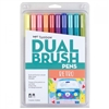 MARKER SET TOMBOW DUAL BRUSH SET 10/RETRO TB56217