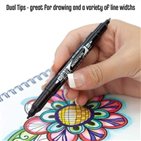 MARKER TOMBOW MONO TWIN TIP BLACK TB56499