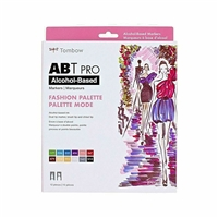 TOMBOW ABT PRO BRUSH MARKER FASHION 12 COLORS ALCOHOL-BASED INK TB56961