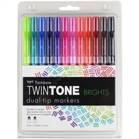 MARKER SET TWINTONE TOMBOW BRIGHT 12/SET TB61500