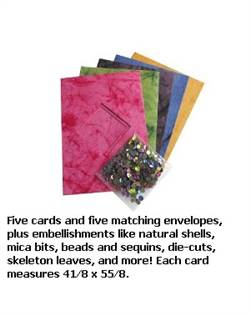 5 CARD KIT MARBLE SEQUIN BHS307