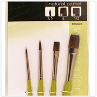 BRUSH SET 1024924 Natural Camel Hair 4PC VARIETY 1024924