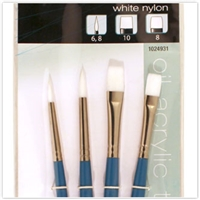 BRUSH SET 1024931 White Nylon 4PC VARIETY 1024931