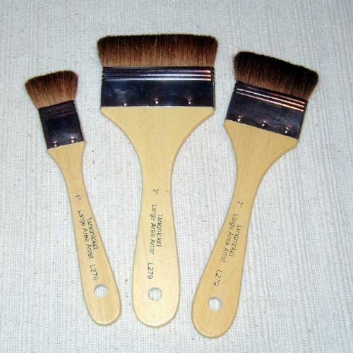 Pack of 3 Royal and Langnickel Brown Camel Hair Large Area Brush