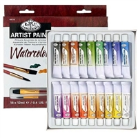 WC SET ROYAL 18-12ML TUBES W/BRUSH WAT18